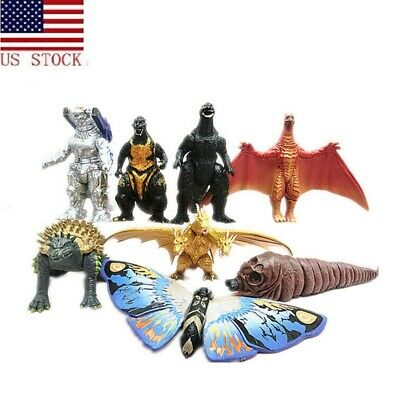8Pcs Godzilla 2 King of the Monsters Action Figures King Ghidorah Godzilla Toys