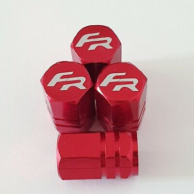 SEAT FR Laser Wheel Valve Dust caps all models  LEON RED