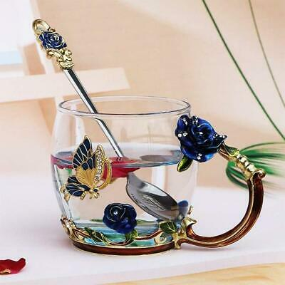 Handmade Novelty And  Beautiful Crystal Enamel Coffee/Tea Cup Mug 400ml