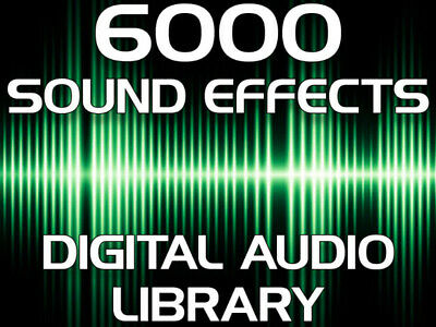 Get Over 6000 Royalty Free Digital Audio Sound Effects Mp3 Immediate Download