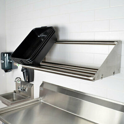 """42"""" Wall Mount Stainless Steel Glass Dish Glass Rack Shelf Commercial Dishwasher"""