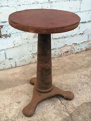 Original VINTAGE 1880s Sewing Machine STOOL Industrial Cast Iron ANTIQUE singer