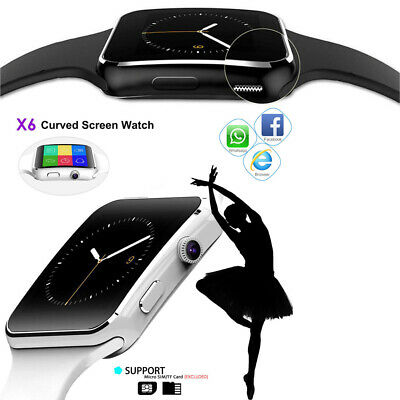 X6 Curved Screen Bluetooth Smart Watch Phone Mate for Samsung/iPhone/Android