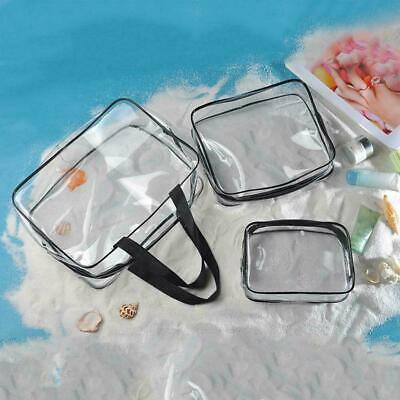 Waterproof Cosmetic Makeup Toiletry Clear PVC Travel Wash Bag Holder Pouch
