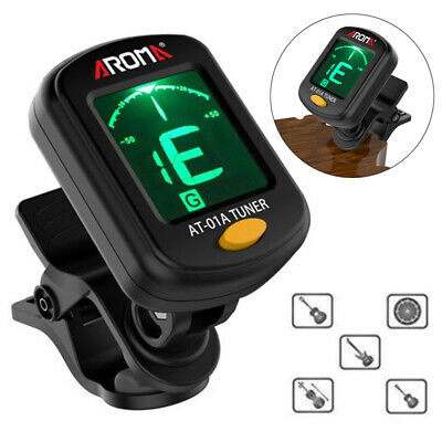 Digital LCD Clip-On Electric Tuner For Bass Guitar Ukulele Violin Chromatic New