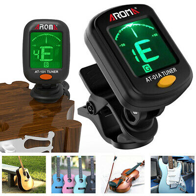 1×Clip-on LCD Electronic Digital Guitar Tuner For Chromatic Violin Ukulele Bass