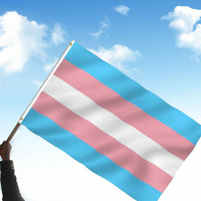 5ft X 3ft Transgender Flag Light Colours Rainbow Pride LGBT Trans Gender Banner