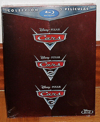 Collection Trilogy Cars 1-2-3 Pack Blu-Ray New Disney Animation (Unopened) R2