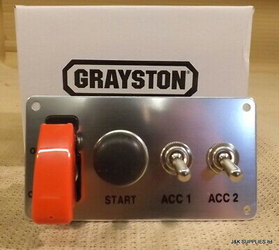 Grayston Ignition Switch And Push Button Start W/ 2 Accessory Switches - Ge343-2