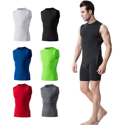 Men Compression Vest Tank Tops Base Layer Skins Sleeveless Sports Tight Athletic