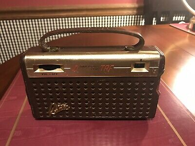 Vtg Realistic 10 Plus TRF Transistor Radio Leather Covered Case Made Japan Rare!