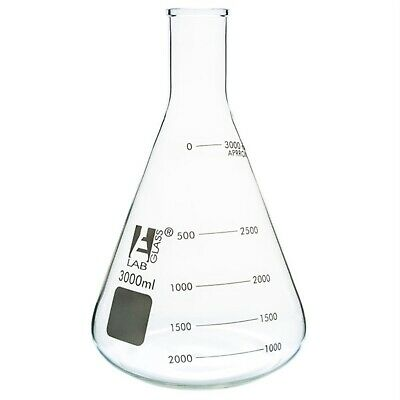 LabGlass Conical Flask Narrow Neck 3000ml Single