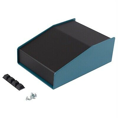 Hammond 1456CE2BKBU Sloped Enclosure 146x102x56mm Aluminium Blue/Black