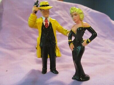 """1990 Madonna Breathless Mahoney 3.5"""" Action Figure Dick Tracy 4"""" Hard Rubber"""