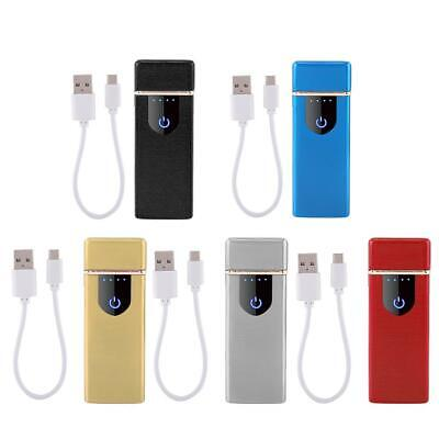 USB Electric Dual Arc Flameless Torch Rechargeable Windproof Lighter 5 Colors HG