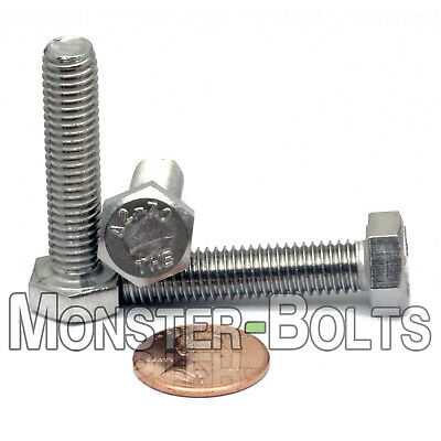 M8-1.25 x 60mm  Stainless Steel Hex Cap Bolt / Screw, Coarse DIN 933 A2 18-8