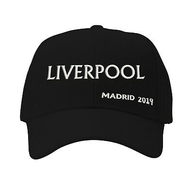 Liverpool Madrid 2019 Embroidered Cap LFC Hat Football Champions Winners League