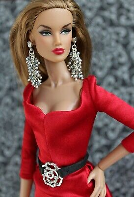 Fashion royalty/Poppy Parker/Color Infusion/ Industry/ jewelry set earrings