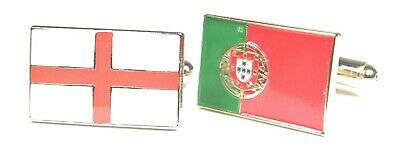 England & Portugal Friendship Cufflinks in Gift Pouch 20mm FREE UK P&P