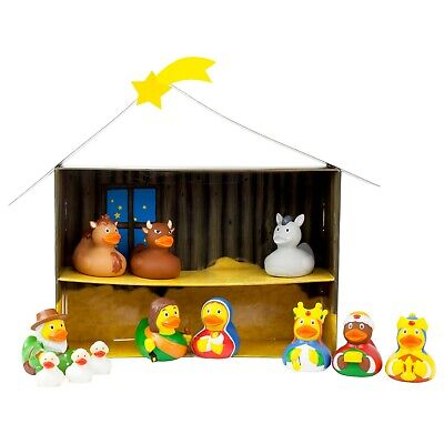 Lilalu 12pc Rubber Duck Christmas Nativity Boxed Set Limited Edition