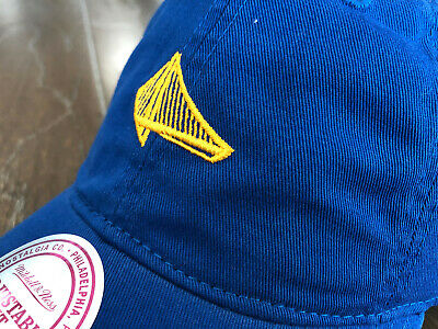 d8f6da7c NWT Golden State Warriors Mitchell & Ness Elements Slouch Cap Hat 1 Size  RARE