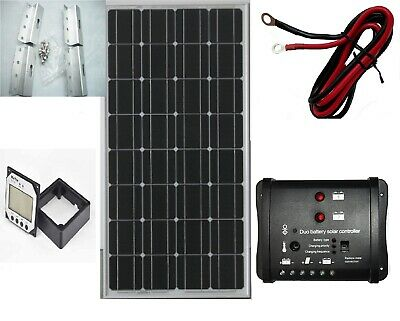 100W Solar Panel kit 12V battery Charge Controller Caravan Boat Home RV