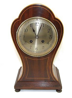French MOUGIN Antique Mahogany Balloon Bracket Mantel Clock BLACK STARR & FROST