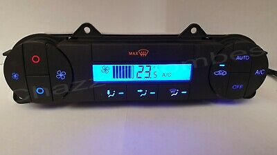 Blue FORD MONDEO MK3 DIGITAL CLIMATE HEATER CONTROL. SWITCH AUTO 2004 - 2007