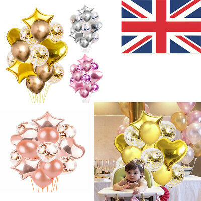 14PCS Happy Birthday Balloons Wedding Latex Foil Ballons Baby Home Party Decor