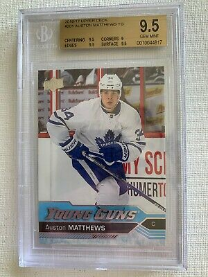 2016-17 Auston Matthews Ud Young Guns Rookie #201 Bgs 9.5 Toronto Maple Leafs Rc