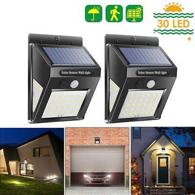30/40LED Solar Power Light PIR Motion Sensor Garden Security Outdoor Yard Lamp