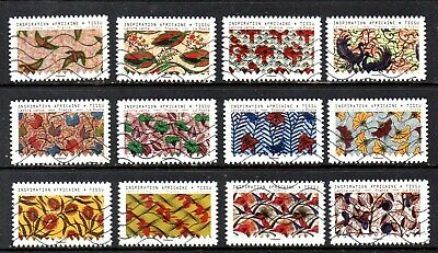*New*  France - French - 2019 - Africa - Nature - Fu - Full Set Of 12 Stamps