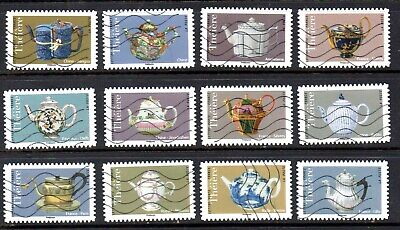 *New*  France - French - 2018 - Vintage Teapots - Fu - Full Set Of 12 Stamps