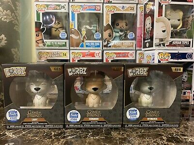 Funko Dire Wolf Dorbz 3-Pack Game of Thrones (Funko Shop Exclusive) 2500 LE