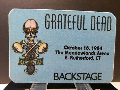 Grateful Dead Backstage Pass -The Meadowlands Arena - E. Rutherford, CT 10-18-84