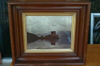 """Antique Victorian Walnut Deep Frame 16"""" x 13.75""""  Holds 9 1/2"""" by 7 1/2"""""""