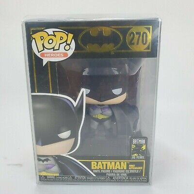Funko Pop! Dc Heroes #270 80 years Batman First Appearance 1939 w/ Protector