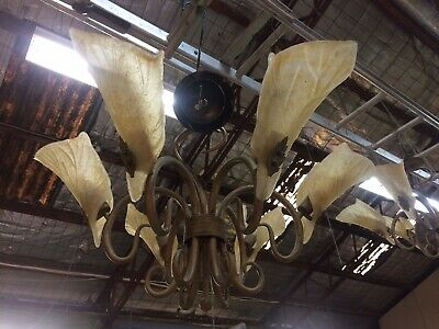 Stunning 6 Arm Art Deco Lily Shade Ceiling Lights