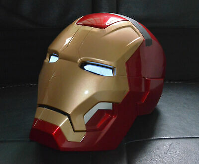 Wearable  1:1 Iron Man MK42 43 helmet Remote Strong ABS LED Eyes Decor Prop