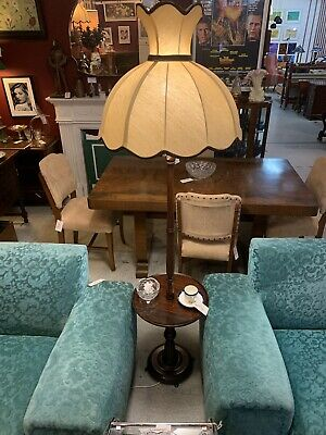 Original Deco Mid Century Standard Lamp & Side Table