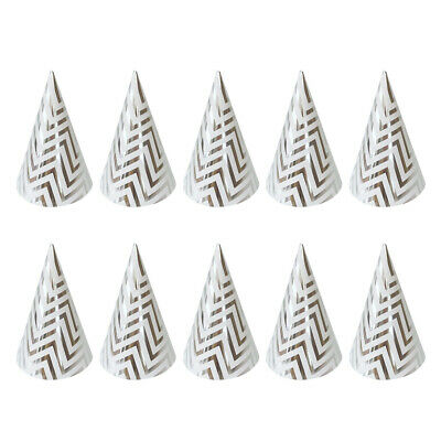 10PCS Triangle Party Hats for Wedding Bridal Shower Graduation Party Decorations