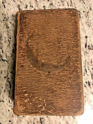 "1832 Antique Leather Religious Book ""The Holy Bible: Old & New Testament"""