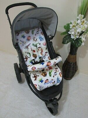 Stroller,pram liner set,universal,100% cotton fabric-Toy Story Toys-reversible