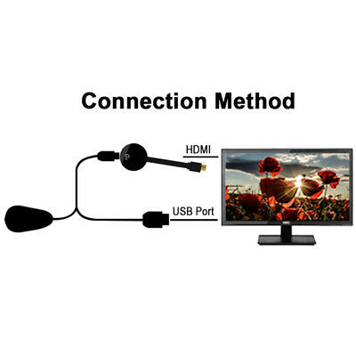 For Chromecast 4rd Generation HDMI Digital Video HD 1080P Media Streamer Black