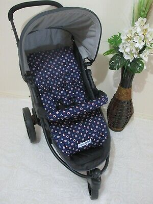 Stroller,pram liner set,100% cotton fabric-Nautical,Navy Funky Babyz,SALE*