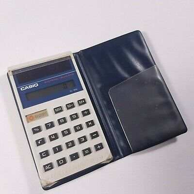 Vintage Casio SL-300 Calculator Solar Cell Compact Case Pocket Made in Japan