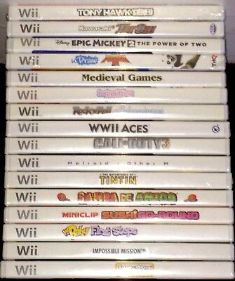 Brand New Nintendo Wii Games Complete Fun Pick & Choose Sealed Video Games Lot