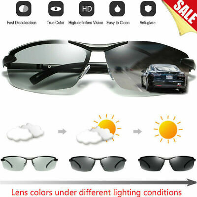 f8f92a0928 Men Photochromic Polarised Sunglasses UV400 Goggles Glasses Lens Outdoor  Eyewear