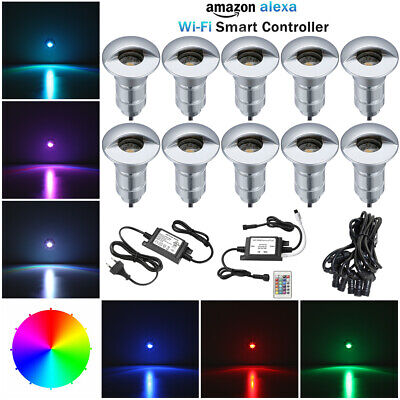 10pcs/set Smart RGB Wifi Controlled Half Moon LED Deck Lights Outdoor Lighting