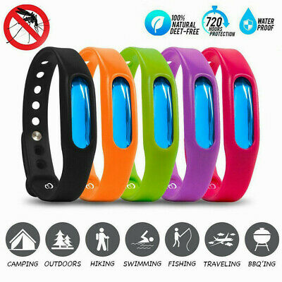5Pcs Natural Silicone Anti Mosquito Bug Insect Repellent Bracelet Wrist Band UK